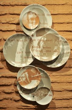 """1967 Kışı"" Ayse Balyemez, Serigraphy on porcelain plates, from my first solo exhibition ""Winter 2011""."