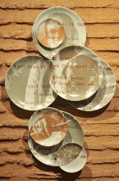 Ayse Bakyemez Serigraphy on porcelain plates