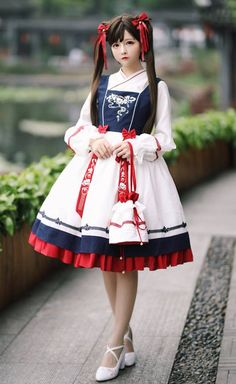 LolitaWardtobe - Bring You the latest Lolita dresses, coats, shoes, bags etc from Trustworthy Taobao indie Brands. We never resell Lolita items from untrustworthy Taobao stores. Harajuku Fashion, Kawaii Fashion, Lolita Fashion, Cute Fashion, Asian Fashion, Daily Fashion, Estilo Lolita, Mode Lolita, Mode Alternative