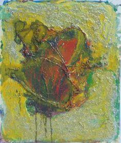 "Artist; Lijda Zuijderduijn; Acrylic, mixed technics on canvas.         ""Discus Fish"""