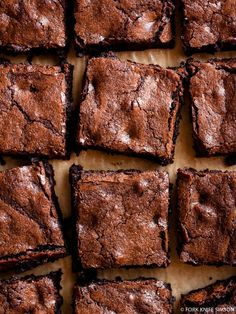 Chewy Triple Dark Chocolate Brownies | Fork Knife Swoon