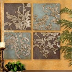 Tuscan Decor Wall Decor, so pretty... I know just where I would