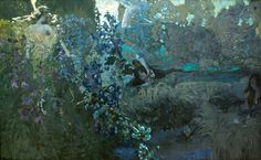 Mikhail Vrubel,Morning (1897). Vrubel was the inspiration to the avant-garde in Russia during the later years of his career as a painter. He might be termed the Russian Cézanne, for they share a number of characteristics: both artists bridge the centuries in their work, and not only the centuries but the two isions which so radicaly divide the nineteenth century from the twentieth; 'modern art' from the art of Western Europe since the Renaissance and the birth of easel painting'