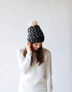 Fair Isle Knit Slouchy Hat With Pom Pom / THE ALPINE / by ozetta