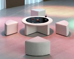 Neat table and stools idea for a kids play room!
