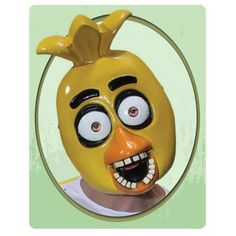Five Nights at Freddy's Chica PVC Adult Mask - Rubies - Five Nights at Freddys - Costumes at Entertainment Earth