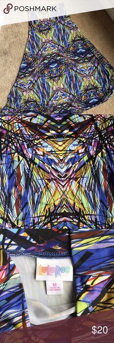 LulaRoe Maxi skirt LulaRoe maxi skirt with multiple colors. Worn twice. EUC LuLaRoe Skirts Maxi