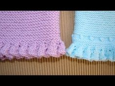 VOLANTE DE PUNTO, OLANES, KNIT RUFFLES - YouTube Knitting Videos, Baby Knitting Patterns, Knitting Stitches, Knitting Designs, Hand Knitting, Lace Patterns, Crochet Patterns, Crochet Baby, Knit Crochet