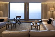 Home & Apartment:Opera Penthouse Sectional Chair Arm Reclining Motion Chair Teak POLYWOOD Chair Sofa Cushion Round Tables Fur Rug Windows Cu...
