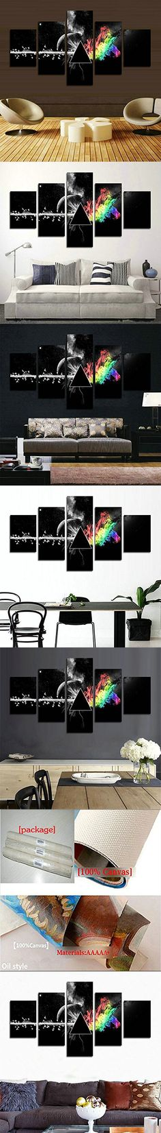 H.COZY5 Piece printed Pink Floyd rock music canvas painting for living room home decor Canvas art wall poster (No Frame) Unframed far265 50 inch x30 inch