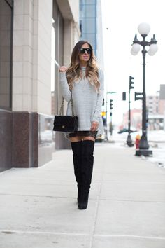 How To Wear A Sweater Dress.