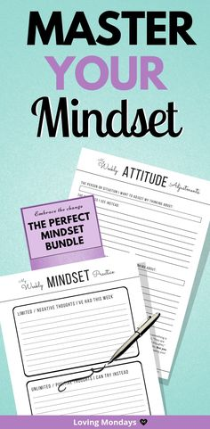 Mastering your mindset ultimately can be achieved by a daily routine in as little as a day. Mindset matters for happiness, mindset matters for anxiety, and overall, mindset matters for a better life. This mastering your mindset printable set wil Goals Planner, Routine Planner, Life Planner, Mental Health Journal, Stream Of Consciousness, Self Development, Personal Development, Brain Dump, Frame Of Mind