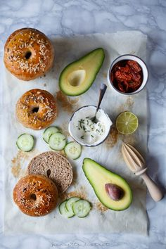 Bagels food photography