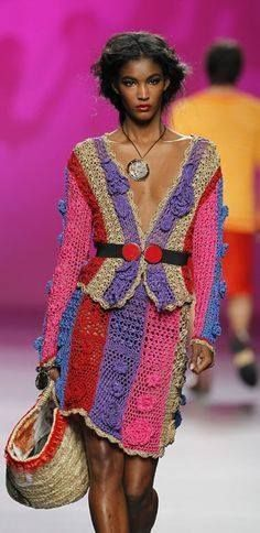 Exquisite OTB crochet suit. Creative | #handmade #crochet #runway