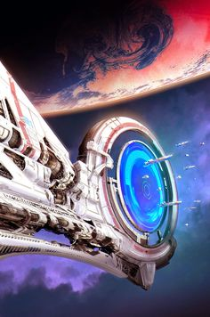 Titan's Portal by http://therealartanas.deviantart.com/ on @DeviantART  Wormhole and space station inspiration for #spaceopera #scifi