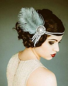 1920s headpiece with feather