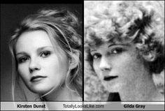 Time travelling Celebrities  Kirsten Dunst & Gilda Gray