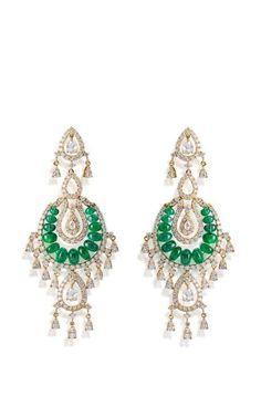 Royal Raga Earring by Farah Khan Fine Jewelry for Preorder on Moda Operandi