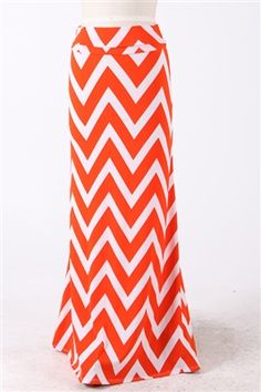 $45.00 Orange and White maxi skirt! Can't get enough of these!