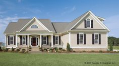 Home Plan HOMEPW07518 - 1882 Square Foot, 3 Bedroom 2 Bathroom Country Home with 2 Garage Bays | Homeplans.com
