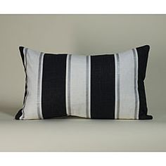 @Overstock - Dress up your decor with this faux silk decorative pillow from Jiti Pillows. Crafted by artisans in the United States, this soft pillow features a black, white and silver striped pattern.http://www.overstock.com/Main-Street-Revolution/Jiti-Pillows-Black-and-White-Ray-Decorative-Pillow/5479334/product.html?CID=214117 $54.99