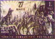 27 Mayıs temalı pulda Bozkurt