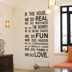 For family room wall