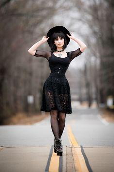 "theblackmetalbarbie: ""photography: Luke Guinn Photography Skirt: @mysticthread """