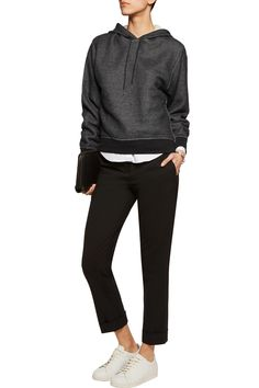 Shop on-sale T by Alexander Wang French cotton-blend terry hooded sweatshirt. Browse other discount designer Tops & more on The Most Fashionable Fashion Outlet, THE OUTNET.COM
