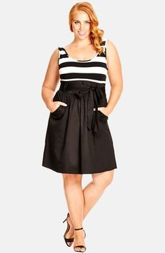 So want this!  Plus Size 'Cute Sailor' Dress