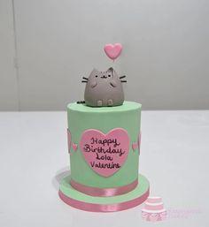 Pusheen Birthday, Birthday Cake For Cat, 10th Birthday, Pusheen Cakes, Cat Cakes, Sushi Party, Eat Dessert First, Cake Art, Cake Cookies