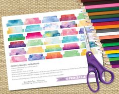 Must have for your bible! Add a little color and make it easier to find a certain page by adding these beautiful watercolor tabs. These are blanks so that you can make them your own!!  Tab Punch (We R Memory Keepers) template for easy use. Printing/Trimming instructions included on the PDFs. Print, Punch & Attach using glue, double-sided tape or washi tape!  This product is an INSTANT DOWNLOAD! After your purchase, you'll receive a link to the downloads page where you can download th...