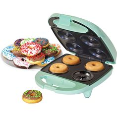 Nostalgia Electrics™ Mini Donut Maker (20 CAD) ❤ liked on Polyvore featuring home, kitchen & dining, food and nostalgia electrics