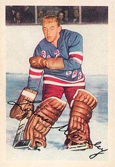 Parkhurst Lorne Worsley New York Rangers RC Rookie Hockey Card Rangers Hockey, Hockey Goalie, Hockey Highlights, Stars Hockey, Goalie Mask, Star Wars, Sports Figures, Hockey Cards, National Hockey League