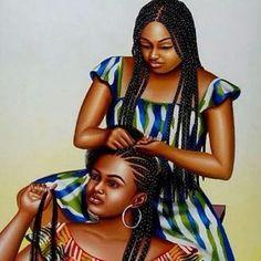 Box braids drawing - Home Black Love Art, Black Girl Art, My Black Is Beautiful, Black Girl Magic, Art Girl, Natural Hair Art, Pelo Natural, Natural Hair Styles, Black Art Painting