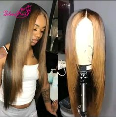 SeleonHair Ombre Silky Straight Lace Front Wigs With Baby Hair Free Ship.The Highest Quality With Wholesale Price.Safe Payment And Shipping. Blond Ombre, Ombre Hair Color, Blonde Wig, Blonde Brunette, Weave Hairstyles, Straight Hairstyles, Short Haircuts, Hairstyles 2016, Party Hairstyles