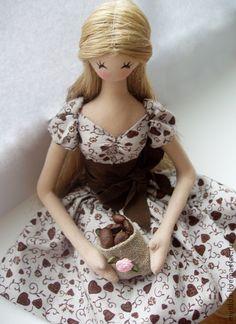 Кофейная кукла 2 - бежевый,украшение интерьера,Кафе,интерьер кухни,подарок подруге♡
