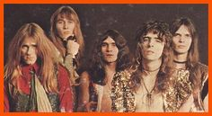 """The original Alice Cooper Band, right before they struck gold with """"Love It To Death"""" and the fully realized 'Alice' persona. Here's guitarist Glen Buxton, drummer Neal Smith, lead guitarist Mike Bruce, Alice and bassist Dennis Dunaway."""