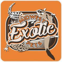 Midwest Exotics Pets logo for Logan Lutes
