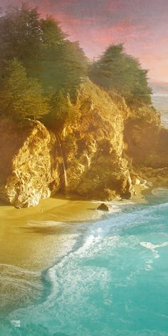 McWay Falls of Pfeiffer Big Sur State Park. One of my favorite places that I've been to!