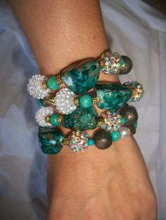 Turquoise and gold by ViaLaBoutique on Etsy, $12.00