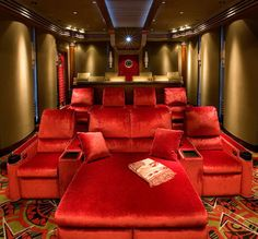 These seats would be PERFECT, well except the red color but I can live with that to have movie theater seats with a bed element to it.