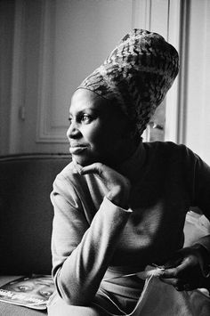 """Miriam Makeba, """"the voice of Africa"""". She was known for her powerful songs of hope and empowerment. Her music condemned the racial upheaval and apartheid in her native South Africa, causing her almost 30-year exile."""