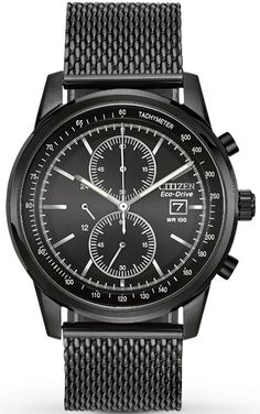 CA0338-57E, CA033857E, Citizen mesh chronograph watch, mens