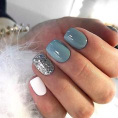 Nagellack Design, Nagellack Trends, Sns Nails Colors, Gray Nails, Pretty Nail Colors, Neutral Nails, Black Nails, Short Gel Nails, White Short Nails