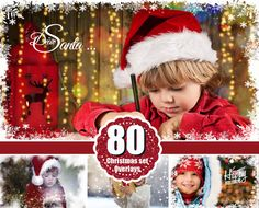 80 Christmas Collection overlays backdrops snow by FunnyBunnyStyle