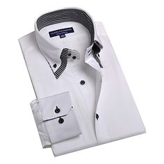 JamesEarl+Masculino+Colarinho+de+Camisa+Manga+Comprida+Shirt+&+Blusa+Branco+-+BA102050525+–+BRL+R$+60,81