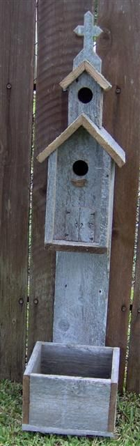 Planters- Hand Made Rustic Birdhouses from Bird Houses and More   Visit & Like our Facebook page! https://www.facebook.com/pages/Rustic-Farmhouse-Decor/636679889706127