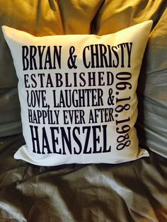 Special date? Remember forever with our new pillows. View link:  https://www.mythirtyone.com/GiselleBernal