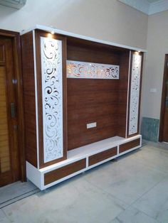 Lcd wall units family rooms that exploit the cornor space open up whatever is lot of the space for more versatile settlement, Lcd Unit Design, Lcd Wall Design, Wall Unit Designs, Living Room Tv Unit Designs, Wall Decor Design, Tv Unit Decor, Tv Wall Decor, Tv Unit Furniture Design, Bed Furniture